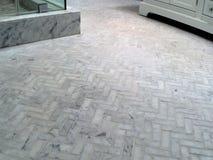 Prysznic herringbone marmurowy podłogowy wzór Obrazy Royalty Free