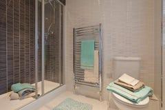 prysznic modny nowożytny izbowy wc zdjęcia stock