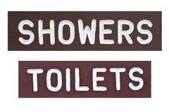 prysznic podpisuje toaletę obraz royalty free