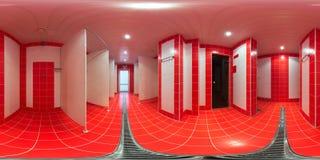 Prysznic pokój z prysznic kabinami zdjęcia stock