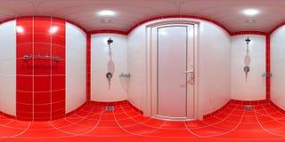 Prysznic pokój z prysznic kabinami obraz royalty free