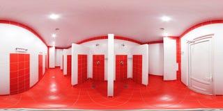 Prysznic pokój z prysznic kabinami obrazy stock