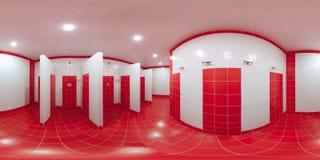 Prysznic pokój z prysznic kabinami zdjęcie royalty free