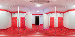 Prysznic pokój z prysznic kabinami fotografia royalty free