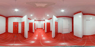 Prysznic pokój z prysznic kabinami zdjęcia royalty free