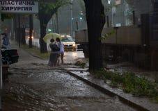 Prysznic trwa wokoło i godziny połówkę zalewał Varna obrazy royalty free