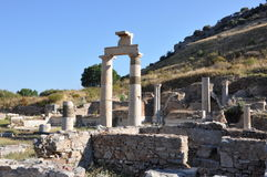 Prytaneion at Ephesus, Turkey Stock Photos