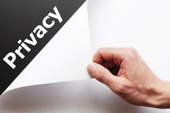 prywatność Zdjęcia Stock