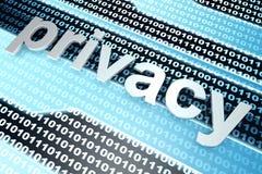 prywatność Obraz Stock