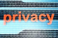 prywatność Zdjęcie Stock