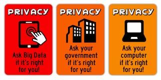 Prywatność znaki ilustracja wektor