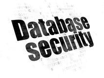 Prywatności pojęcie: Bazy danych ochrona na Cyfrowego tle Zdjęcia Royalty Free