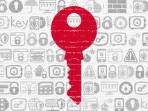 Prywatności pojęcie: Klucz na ściennym tle Zdjęcia Royalty Free