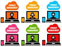 Prywatności zarządzanie royalty ilustracja