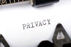 prywatności. Obraz Stock
