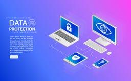 Prywatności ochrony antivirus kilof ilustracji