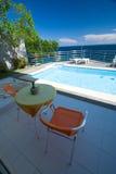 prywatny basen hotelowy Obraz Royalty Free