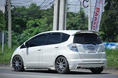 Prywatny samochód, Honda Jazz hybryd Zdjęcia Stock