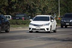 Prywatny samochód, Toyota Corolla Altis Jedenasty pokolenie zdjęcia stock
