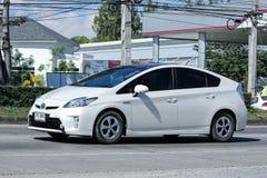 Prywatny samochód, Toyota Prius Hybrydowy system Obrazy Stock
