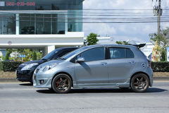 Prywatny samochód, Toyota Yaris Fotografia Stock