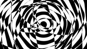 Przędzalniany czarny i biały asymmetrical tło chaotyczne linie ilustracji