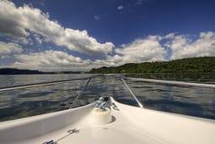 Przód łódź na Nowa Zelandia jeziorze Obraz Stock
