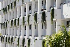 Przód budynek mieszkaniowy w Tenerife Obrazy Royalty Free