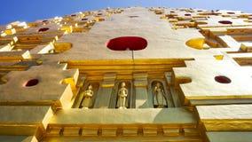 Przód Chedi Phutthakhaya Buddhakhaya pagoda jest jeden Fotografia Royalty Free