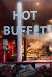 Przód Chiński Gorący bufet w Chinatown, Londyn fotografia royalty free