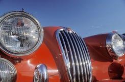 Przód czerwony Jaguar zdjęcia stock