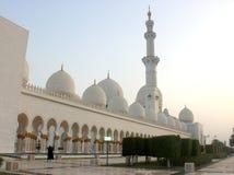 Przód i wejście Sheikh Zayed meczet Fotografia Stock