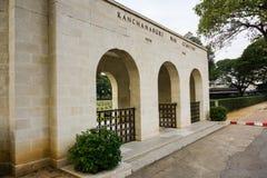 Przód Kanchanaburi wojny cmentarz Fotografia Stock