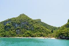 Przód Ko Wua Talap wyspa Fotografia Royalty Free