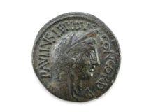 Przód Romańska miedziana moneta Zdjęcie Stock