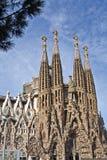 Przód Sagrada Familia obrazy stock
