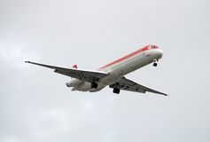 przód samolotu odrzutowiec pasażera widok Zdjęcia Royalty Free