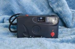 Przód Stara Czarna analog kamera fotografia royalty free