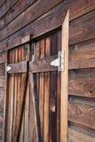 Przód stary drewniany boathouse Fotografia Royalty Free