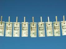 przący pieniądze Zdjęcie Royalty Free