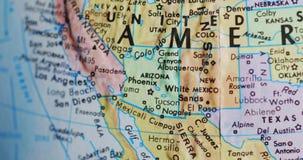 Przędzalniana kuli ziemskiej mapa Arizona usa 4K zbiory wideo