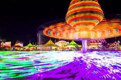 Przędzalniana przejażdżka kolory przy jarmarkiem Zdjęcie Stock