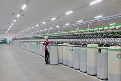 Przędzalniana rośliny maszyneria, wyposażenie i Obrazy Stock