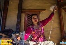 Przędzalniana wełna Nepal Zdjęcia Stock