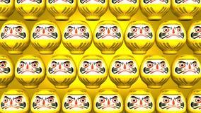 Przędzalniane Żółte Daruma lale Na Żółtym tle royalty ilustracja