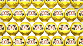 Przędzalniane Żółte Daruma lale Na Białym tle royalty ilustracja