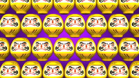 Przędzalniane Żółte Daruma lale Na Purpurowym tle royalty ilustracja