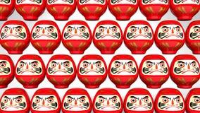 Przędzalniane Czerwone Daruma lale Na Białym tle ilustracja wektor
