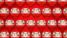 Przędzalniane Czerwone Daruma lale Na Czerwonym tle ilustracja wektor
