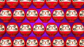 Przędzalniane Czerwone Daruma lale Na Purpurowym tle ilustracja wektor
